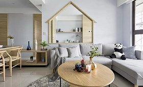 82㎡简约三居,巧妙的背景墙设计美了整个家!_找灵感